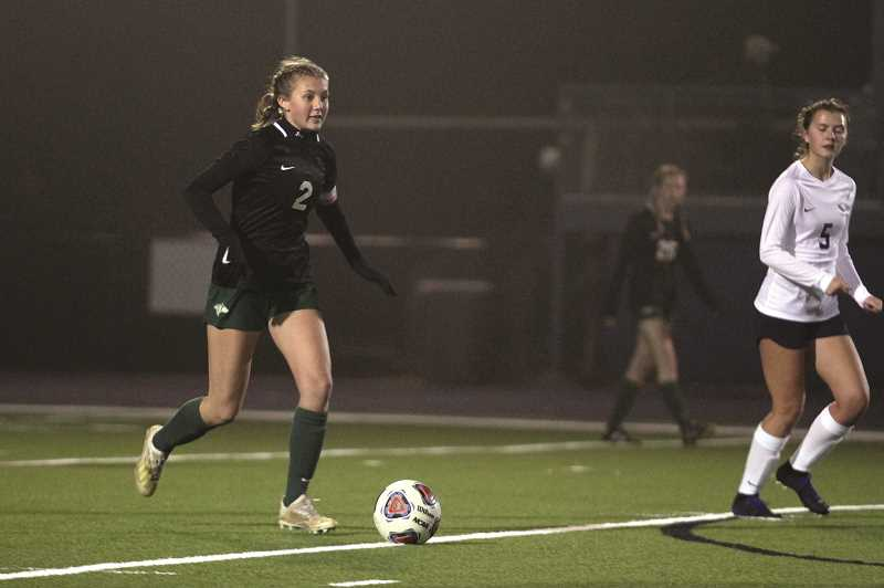 PMG PHOTO: PHIL HAWKINS - Hailey Welch scored the opening goal in the first five minutes, assisted by Dominique Huapeo.
