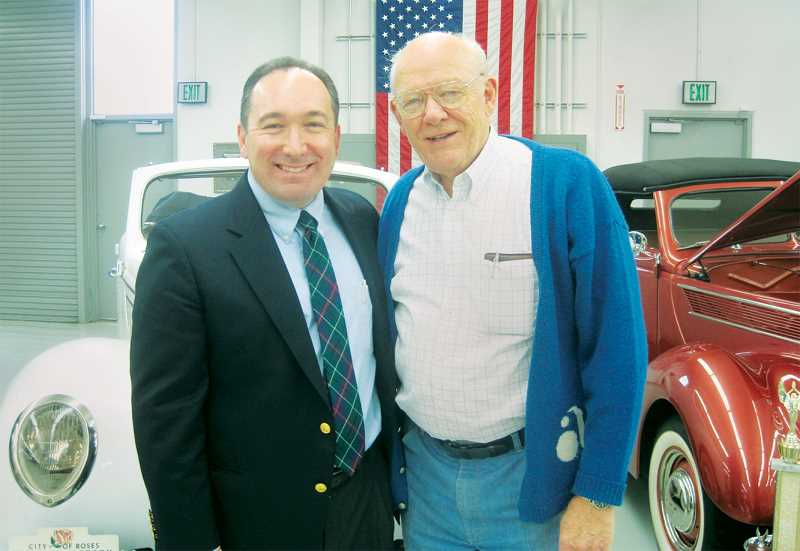 PHOTO COURTESY OF GARD COMMUNICATIONS - Ken Austin Jr. (right) named Austin Industries president Brett Baker as trustee of Austin's trust a few months before his death in May.
