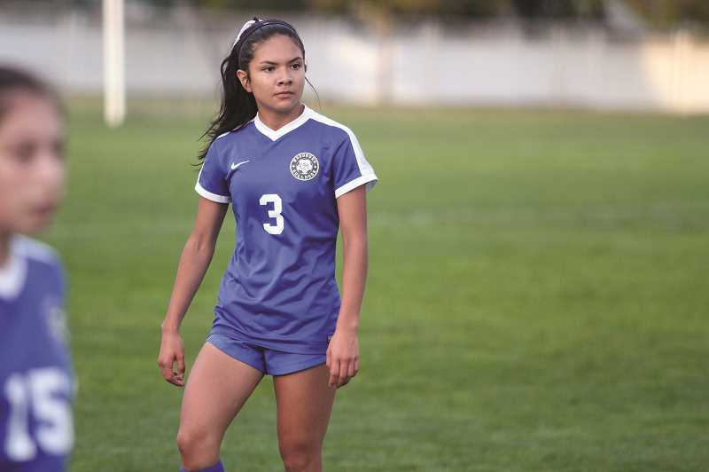 PMG FILE PHOTO: PHIL HAWKINS - Junior forward Yahaira Rodriguez was one of five Bulldogs to be named to the Oregon West Conference First Team.