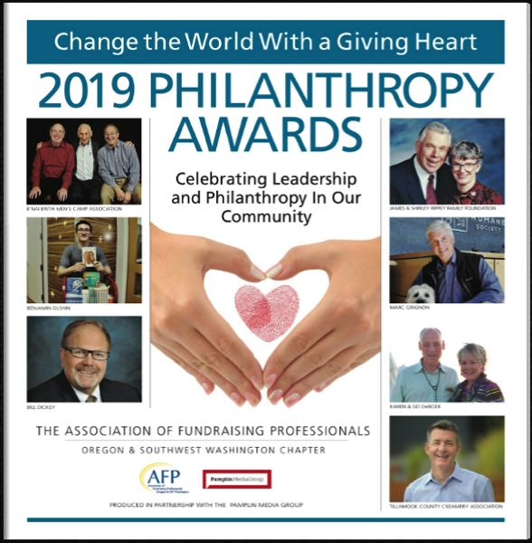 (Image is Clickable Link) The Association of Fundraising Professionals 2019 Philanthropy Awards special section.
