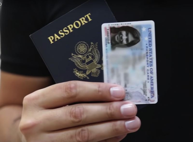 TSA PHOTO - A passport and passport card is shown here.