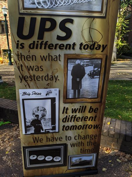 PMG: JOSEPH GALLIVAN - UPS provided a history of its 100-plus years delivering parcels.