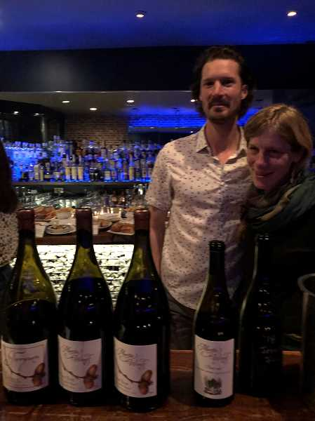 PGM STAFF: BARB RANDALL - Evan and Sarah Martin of Martin Woods Winery recently shared their wines with members of the media at a pop-up tasting room in Portland. You can visit their winery in the McMinnville AVA by appointment.