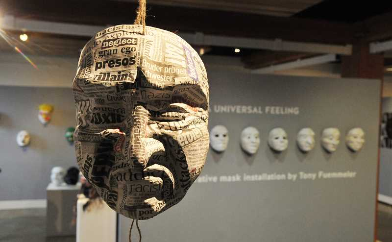 GRAPHIC PHOTO: GARY ALLEN - Dozens of masks went on display this week at the Chehalem Cultural Center as part of the exhibit, 'A Universal Feelling.'