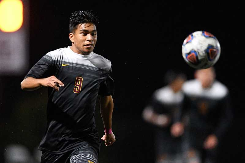 PMG FILE PHOTO: CHRISTOPHER OERTELL - Forest Grove's Antonio Cipriano during a game earlier this season. The junior forward scored the Vikngs' only goal in a 1-0 second round playoff win over Central Catholic Wednesday, Nov. 6, at Forest Grove High School.