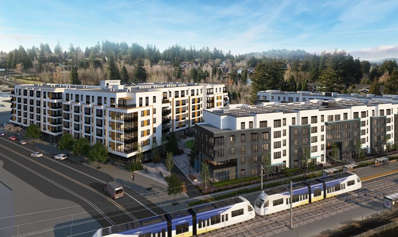 RENDERING COURTESY OF SERA ARCHITECTS - The Civic Southwest development will have 435 apartments and 368 underground parking spaces.