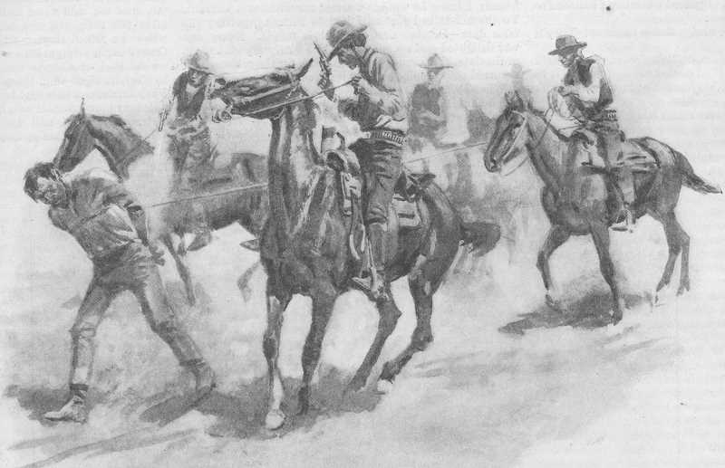 PHOTO COURTESY OF BOWMAN MUSEUM - Horse thieves hoping to make some easy money were dealt swift vigilante justice.