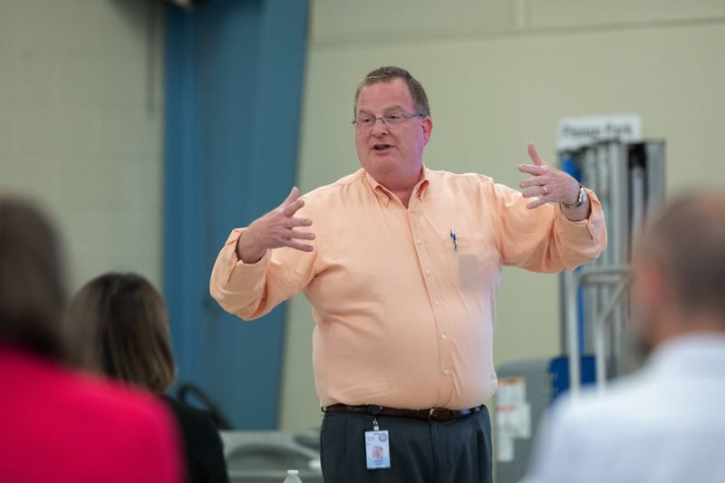 PMG FILE PHOTO - Oregon Health Authority Director Patrick Allen talks during the Future of the Oregon Health Plan to local high school students.