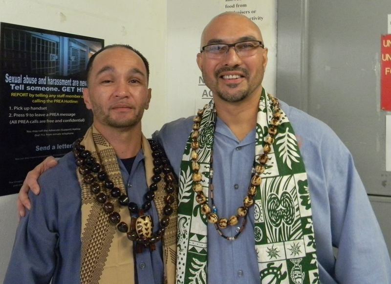 OREGON CAPITAL BUREAU: JAKE THOMAS - Toshio Takanobu and Johnny Coffer, members of the OSP Asian Pacific Family Club.