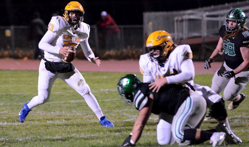 PMG PHOTO: DAVID BALL - Barlow quarterback Jaren Hunter and the Bruins will host Glencoe at 7 p.m. tonight (Friday, Nov. 8) in the first round of the Class 6A state playoffs.