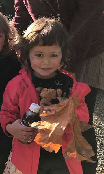 COURTESY PHOTO: CCSO - Iris Nix, 2, of Molalla, was found on Thursday, Nov. 7 in the Molalla River Recreation Area after wandering away from her grandmother.