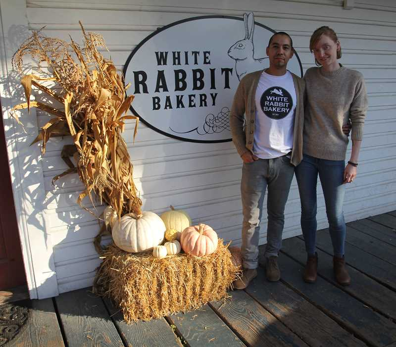 PMG PHOTO: JUSTIN MUCH - Oscar and Emily Arreola opened White Rabbit Bakery in Aurora 10 years ago, and its been a community fixture ever since.