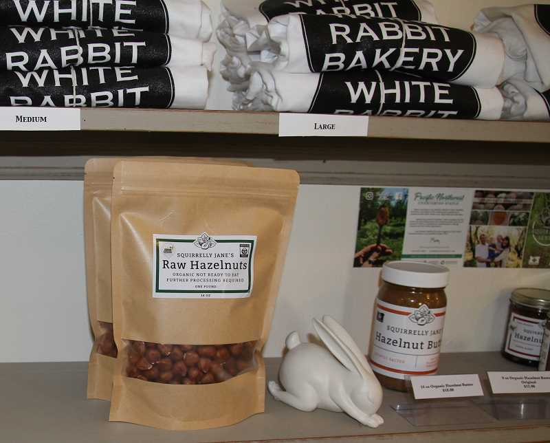 PMG PHOTO: JUSTIN MUCH - White Rabbit Bakery in Aurora has become a fixture over the past 10 years, one which carries some products that mark the areas identity, like hazelnuts.