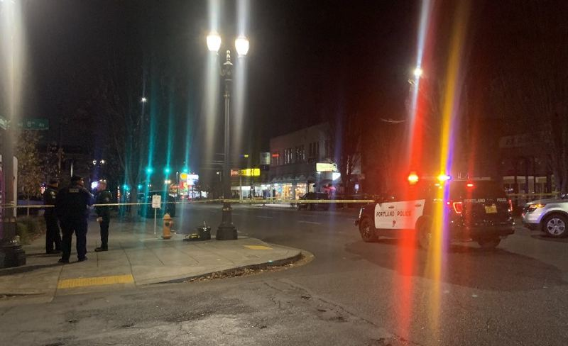 KOIN 6 NEWS - The scene of the Friday night shooting in the Lloyd District.