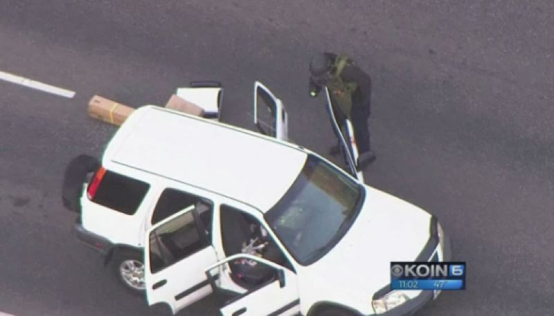 VIA KOIN 6 NEWS - Schaefer's vehicle was stopped in traffic on Northwest 185th Avenue during the investigation.