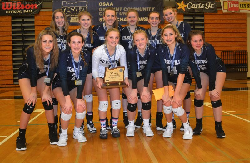 PMG PHOTO: DEREK WILEY - Wilsonville finished second at the Class 5A volleyball tournament.