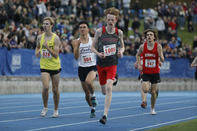 PMG PHOTO: SOOBUM IM - Canby senior Matthew Powell ran a personal best time at the Class 6A boys cross country meet.