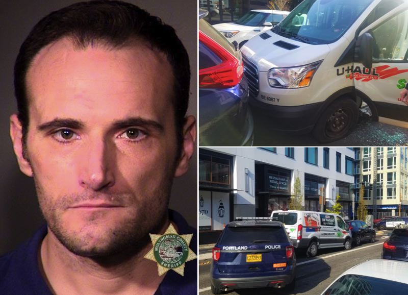 Police: Wanted man in van 'boxed in' at Pearl District