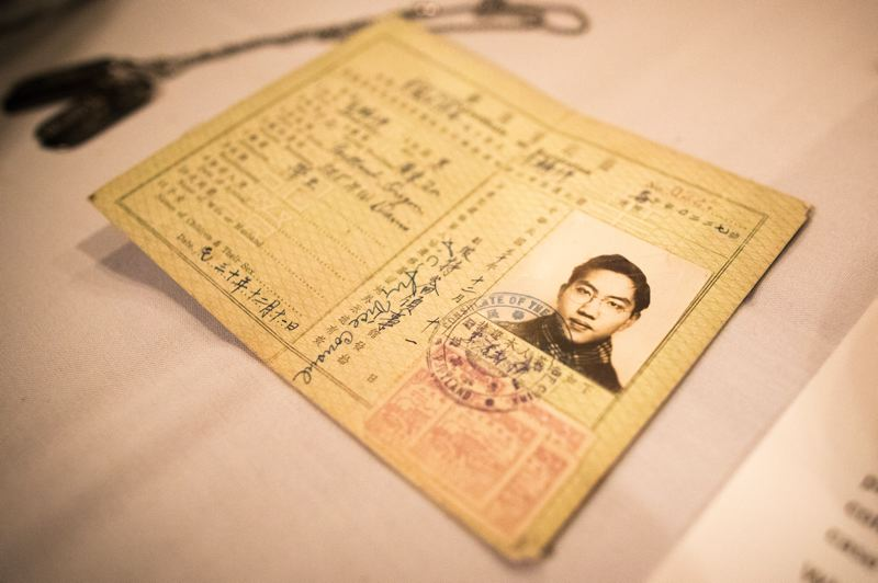 PMG PHOTO: JAIME VALDEZ - The Republic of China issued a certificate for Fred Cheong Lee to carry in the U.S. Army, certifying him to be an American of Chinese descent. Lee was born in Portland and now resides in Beaverton.