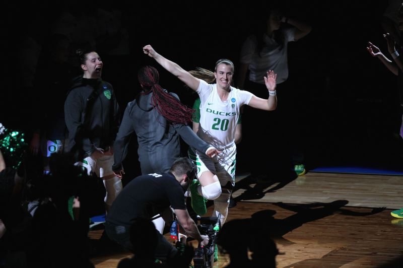 PMG FILE PHOTO: JAIME VALDEZ - Sabrina Ionescu and the Oregon Ducks got their season off to a rollicking start Saturday by upsetting Team USA at Matthew Knight Arena.