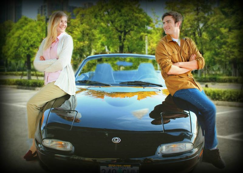PHOTO BY JENNIFER JETT - Cami Kaylor as Becky, the title character in 'Becky's New Car,' and Kyle Ward, as her husband.