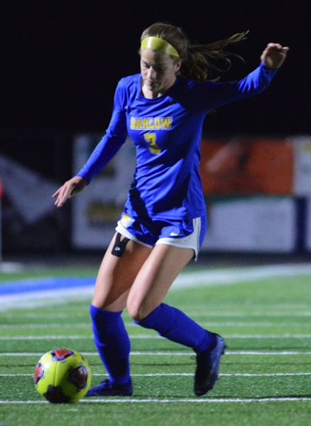 PMG PHOTO: DAVID BALL - Barlows Mikayla Topaum suffered near-misses with an assist off a corner kick and a shot off a corner kick in the first 20 minutes of the Bruins 4-0 quarterfinal loss to Jesuit.