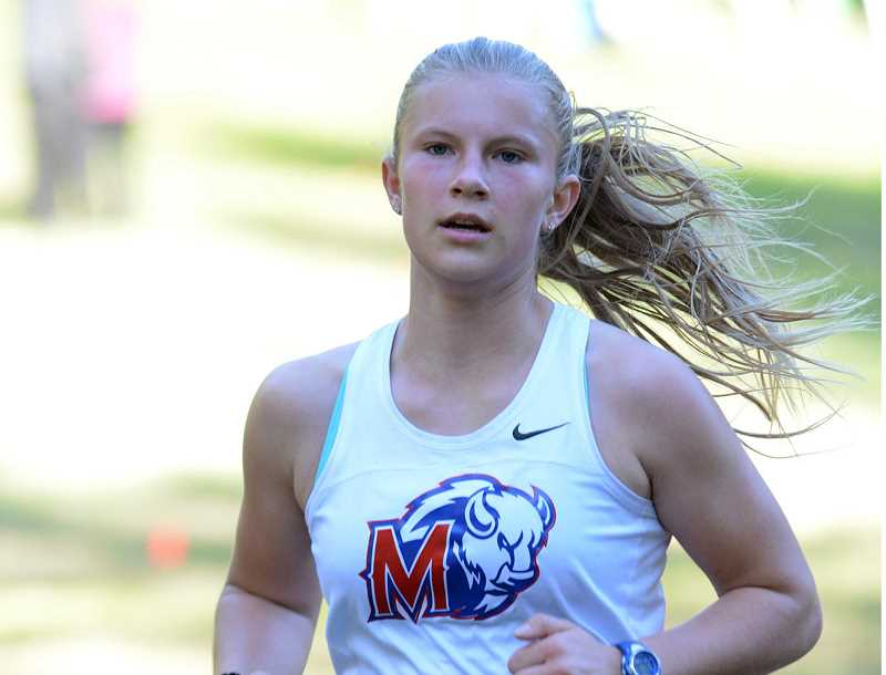 DAVID BALL - Madras freshman Hannah MacDuffee placed fourth at the district cross country meet in Estacada Oct. 30, and ran in the state meet in Eugene Nov. 9.