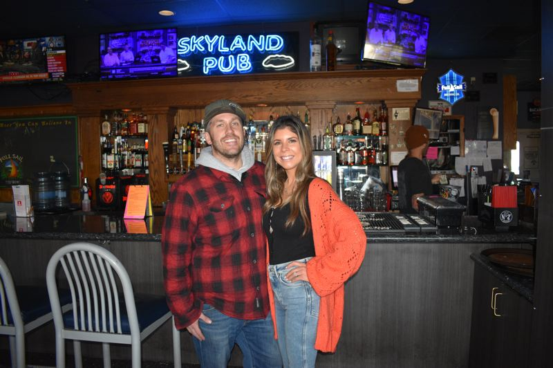 PMG PHOTO: SHANNON O. WELLS - Jake and Ashlee Whitney plan few if any changes at the sports bar they just purchased from Stayce and Jason Blume.