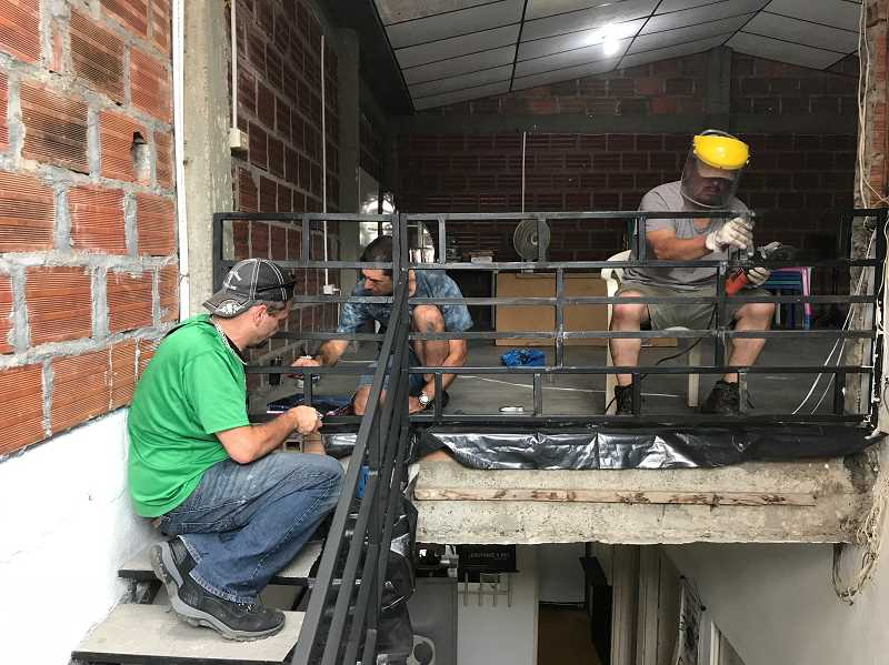 COURTESY PHOTO: BARTON CHURCH - Members of the Barton Church mission team completed a variety of construction projects during their time in Colombia.
