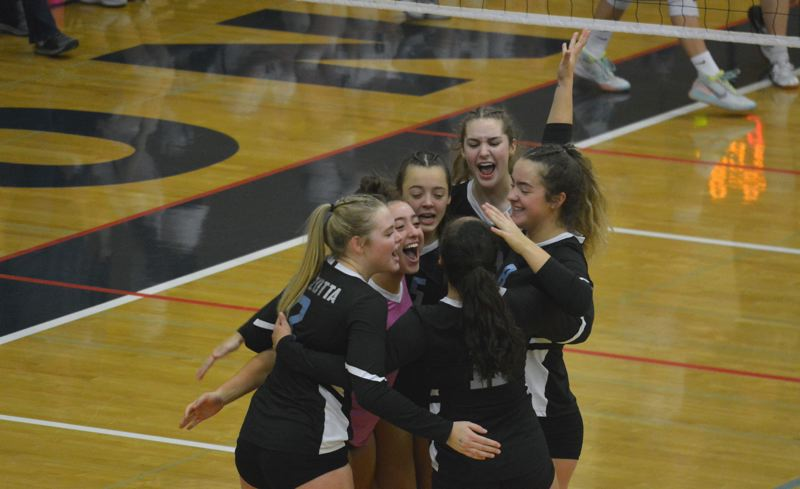 TIMES PHOTO: MATT SINGLEDECKER - The Mountainside volleyball team was upended by Canby in the Class 6A quarterfinals.
