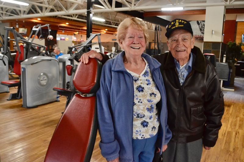 PMG PHOTO: BRITTANY ALLEN - Joyce and Bill Stewart have been married for 66 years and keep each other young with laughter and supporting each other at the gym.