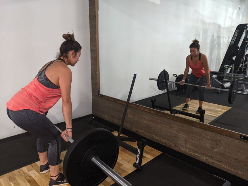 PMG PHOTO: BRITTANY ALLEN - Dead lift equipment was added to the offerings at MHAC with the recent expansion of the weight room.