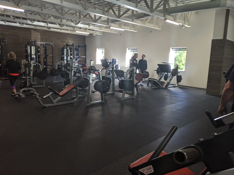 PMG PHOTO: BRITTANY ALLEN - An expanded weight room was recently added at Mt. Hood Athletic Club.