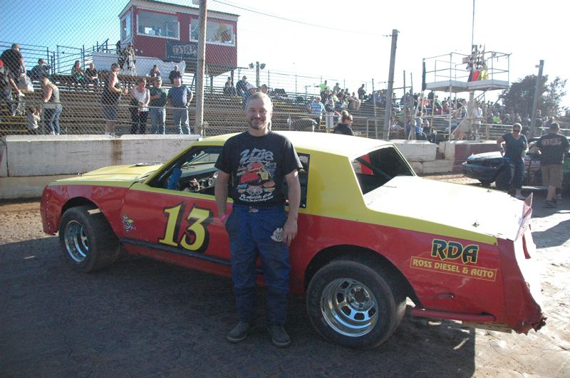 COURTESY PHOTO: MIKE WEBER - Terry King of Warren was a co-driver, with Brock Ross of St. Helens, of the Ross Diesel & Auto-sponsored 1987 Buick Regal that took first place this season in the Street Stock Division.