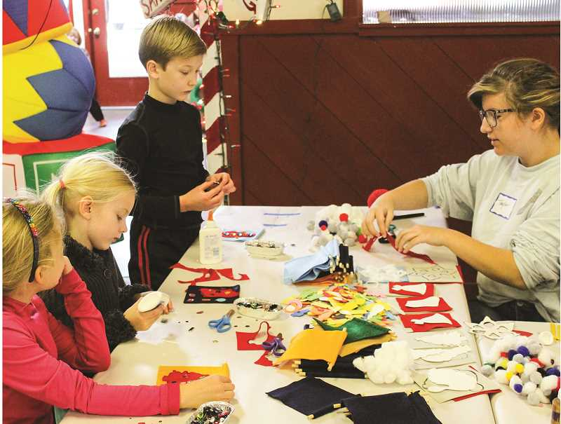 CENTRAL OREGONIAN - Children are invited to create numerous Christmas arts and crafts at Santa's Workshop. The event has historically been held at Carey Foster Hall, but will move this year to the fairgrounds' indoor arena.