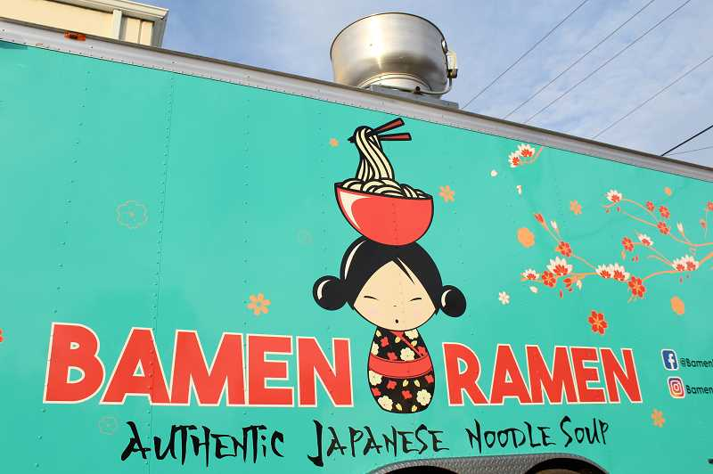 PMG PHOTO: GABBY URENDA - Bamen Ramen's food trailer located on 2024 19th ave. in Forest Grove. After several months of anticipation, the restaurant opened earlier this month.
