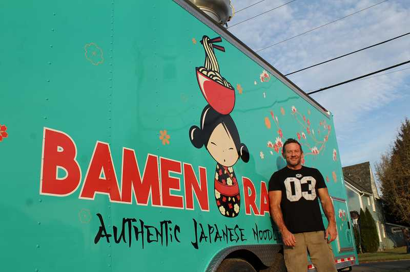 PMG PHOTO: GABBY URENDA - Owner Jason Jewett opened the food trailer Bamen Ramen in Forest Grove after months of anticipation. It's the only spot in the area with an exclusive focus on traditional Japanese ramen.