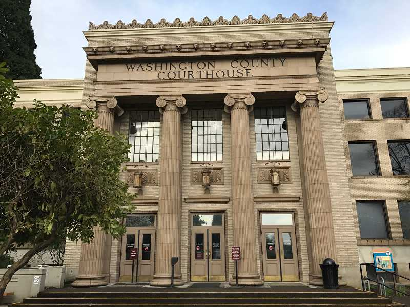 PMG FILE PHOTO - The Washington County Courthouse has been the scene of several arrests by immigration enforcement agents in the past, but a new rule by an Oregon Supreme Court judge may make that more difficult.