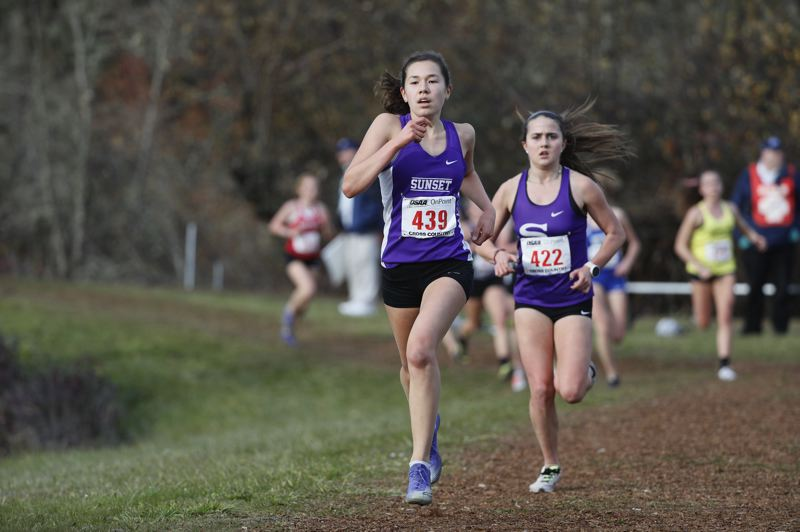 COURTESY PHOTO: - Sunset senior Lucy Huelskamp placed 12th overall at the Class 6A state championship meet.