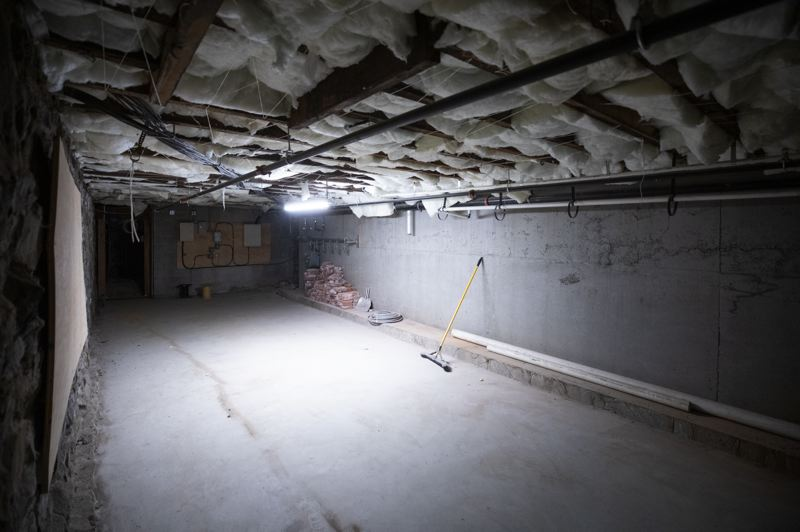 PMG PHOTO: JONATHAN HOUSE - The Harlow Hotel owner is looking to make this underground space either a bar or speakeasy.