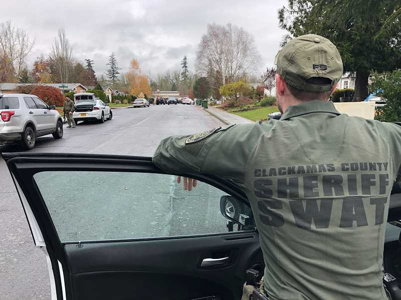 COURTESY PHOTO: CLACKAMAS COUNTY SHERIFF'S OFFICE - SWAT teams including the Clackamas County Sherrif's Office team helped apprehend suspect Camilo Santiago-Santiago in a shooting that resulted in one death.