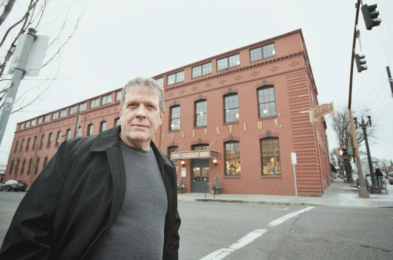 PMG PHOTO: JAIME VALDEZ - Twenty-four years ago, Rejuvenation Hardware founder Jim Kelly spent more than $1 million upgrading the company's landmark headquarters building in Southeast Portland to better withstand earthquakes. it does not meet current standard, however.