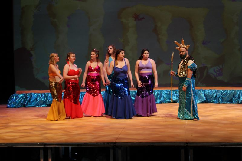 COURTESY PHOTO: LAURA STEENSON  - Rehearsals for The Little Mermaid started back in August so the 26 cast members of The Little Mermaid who have solos or speaking lines would be comfortable in their roles.