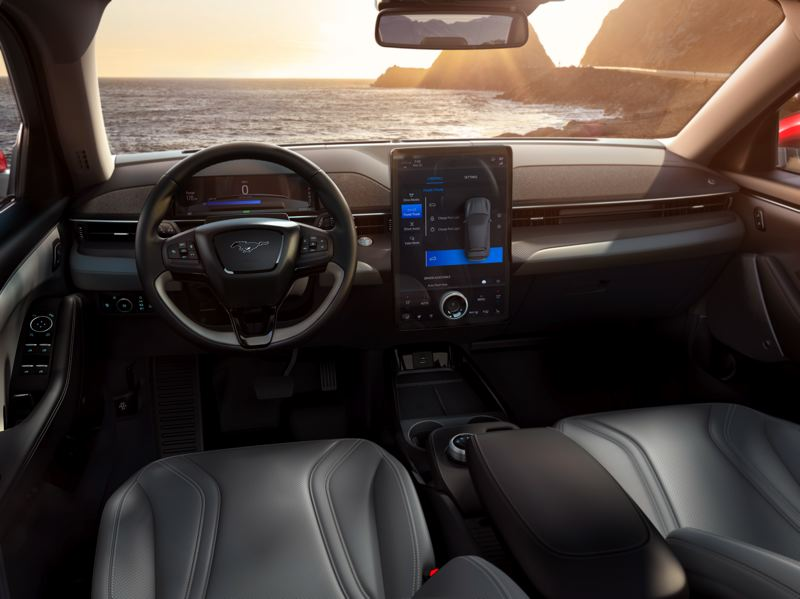 COURTESY FORD MOTOR COMPANY - The all-new interior design features an Infotainment system that is controlled through a large 15.5-inch touchscreen system.