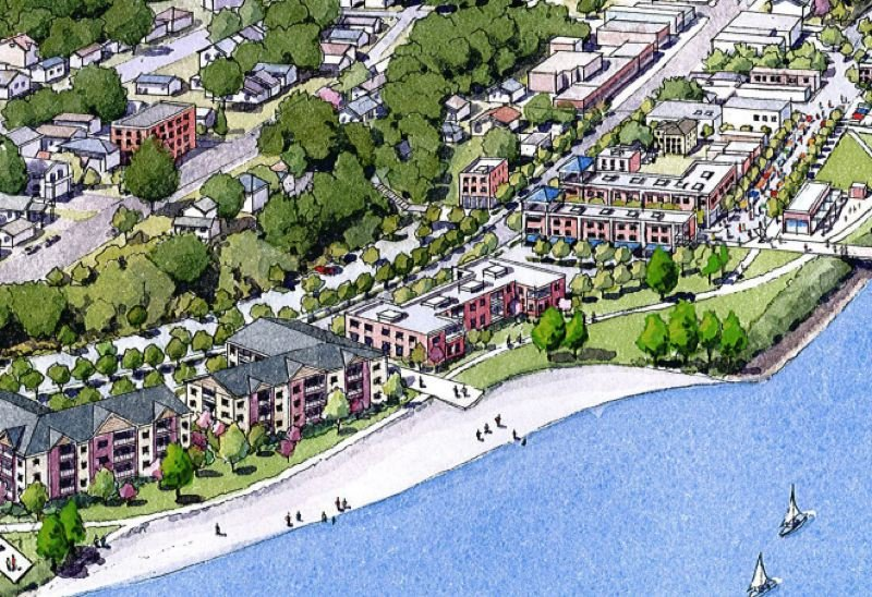 COURTESY - A rendering of the proposed waterfront in St. Helens.
