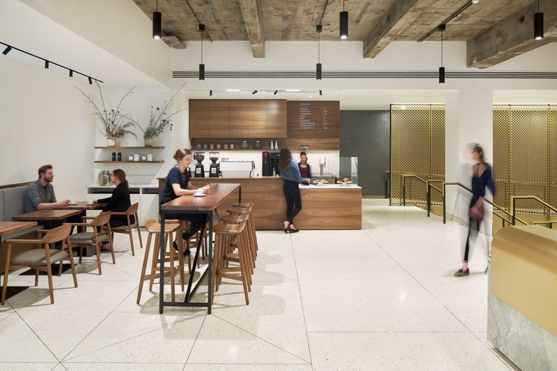 COURTESY: BORA ARCHITECTURE - The Meier & Frank Building lobby design recently won two 2019 International Interior Design Association Oregon Design Excellence Awards.