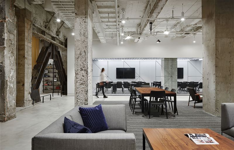 COURTESY: BORA ARCHITECTURE - The Meier & Frank Building lobby design recently won two 2019 International Interior Design Association Oregon Design Excellence Awards. The basement has a work space and meeting rooms.
