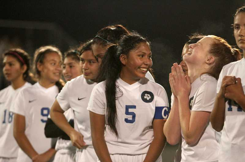 PMG PHOTO: PHIL HAWKINS - Laughter, smiles and tears were in abundance in the aftermath of the 2019 4A Girls Soccer State Championship.