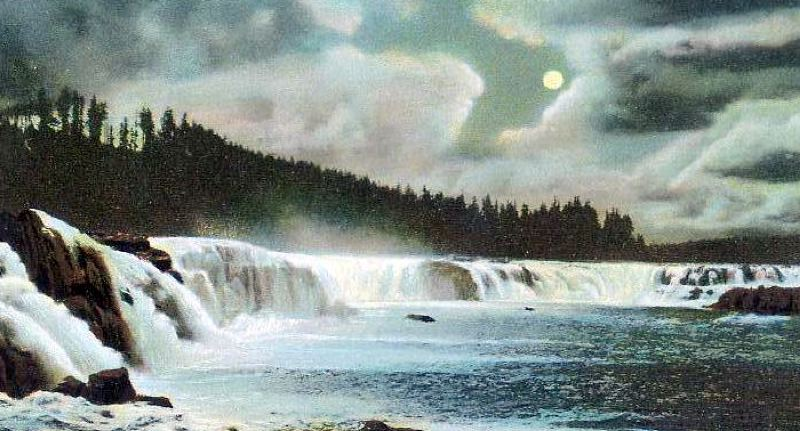 COURTESY: CLACKAMAS COUNTY HISTORICAL SOCIETY - Willamette Falls in a historic image from the 1800s.