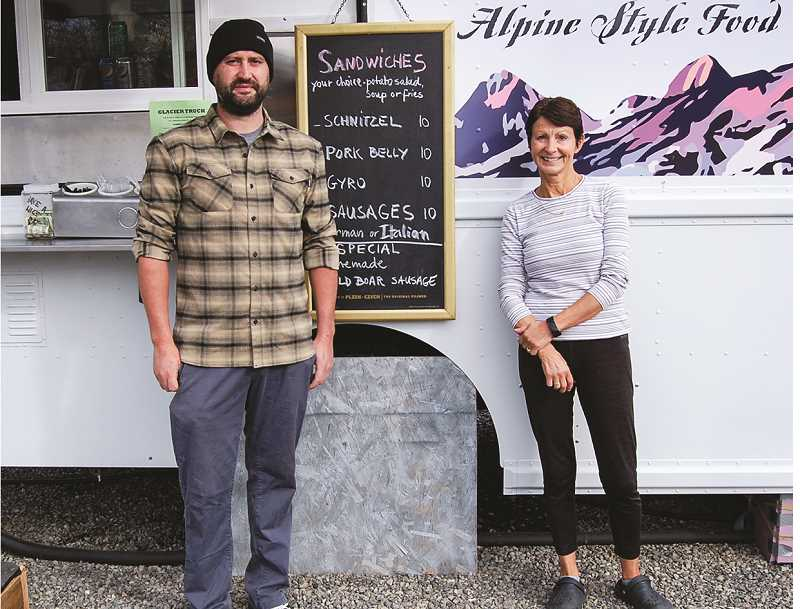 RAMONA MCCALLISTER - Jerry and Dasha Kropacek hail from the Czek Republic, and bring with them authentic dishes from their homeland. Their feature sandwich is schnizels.